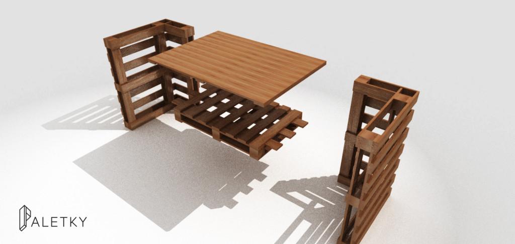 Rozložitelný dřevěný výstavní pult stánek