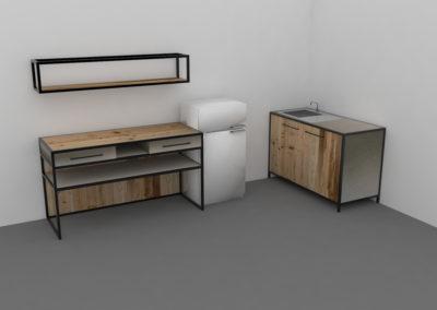 Paletky | recyklovaný nábytek z palet | Mobilní Kuchyň Web 1200 5 | nábytek na míru