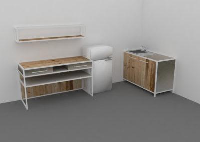 Paletky | recyklovaný nábytek z palet | Mobilní Kuchyň Web 1200 6 | nábytek na míru