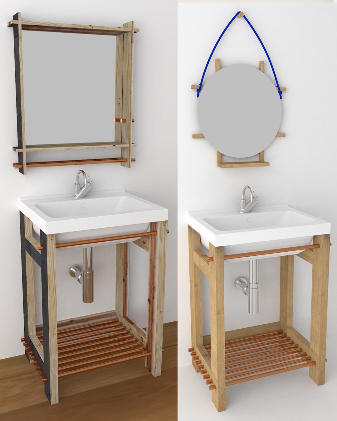 Paletky | recyklovaný nábytek z palet | Koupelnová Skříňka 2 Ig 3 | nábytek na míru