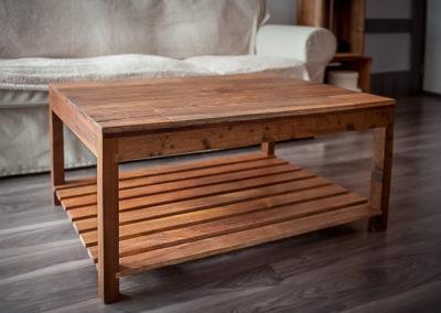 dvoupatrový konferenčí stolek, obývací pokoj, mahagon