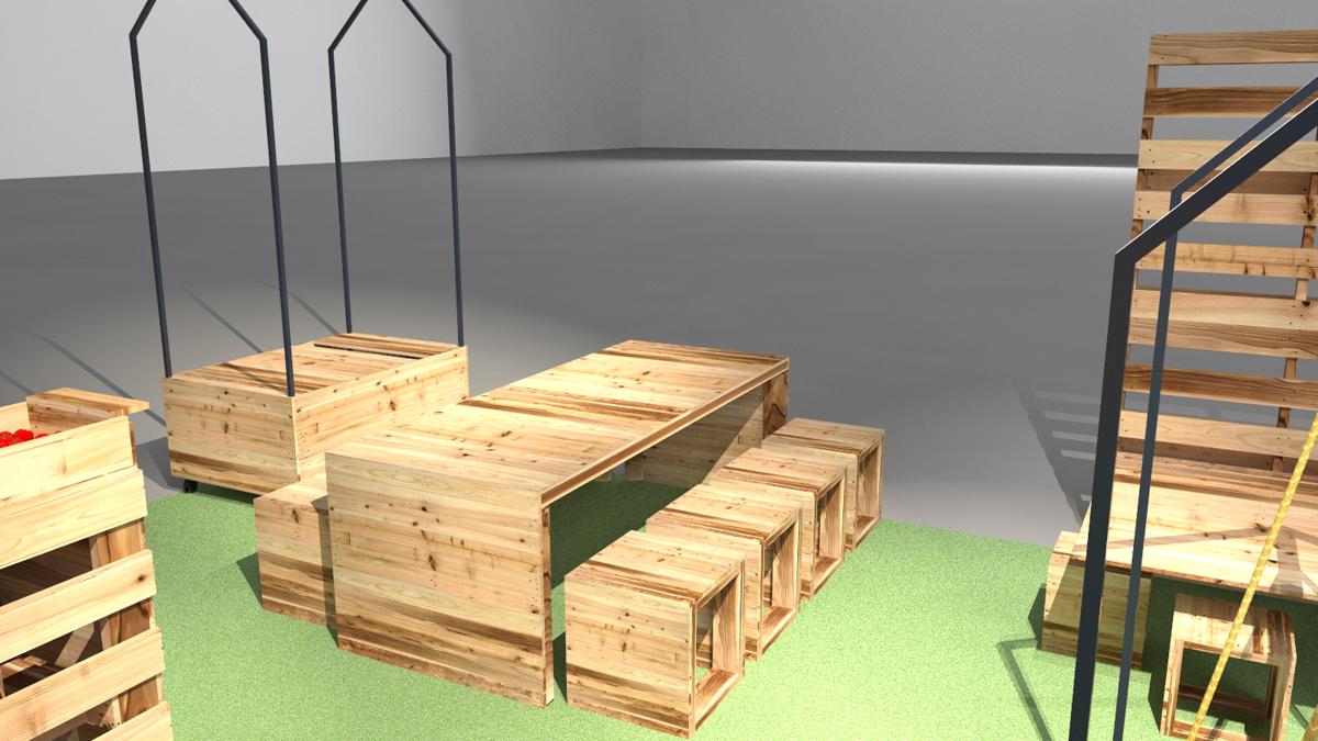 Paletky | recyklovaný nábytek z palet | Ovozela Web 1200 8 | nábytek na míru