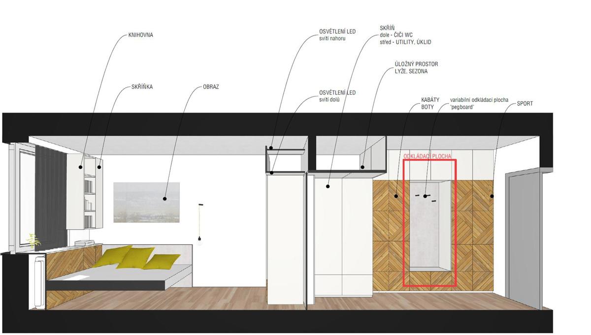 Paletky | recyklovaný nábytek z palet | Předsíň A Ložnice Web 1200 6 | nábytek na míru