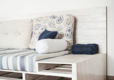 Paletky | recyklovaný nábytek z palet | Soffa L Detail Paletky | nábytek na míru