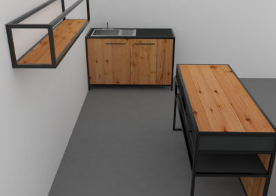 Paletky | recyklovaný nábytek z palet | Mobilní Kuchyň Web 1200 2 | nábytek na míru