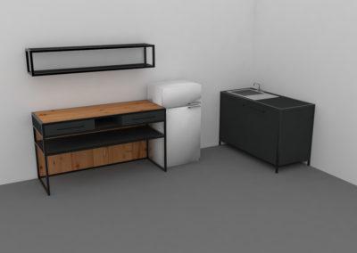 Paletky | recyklovaný nábytek z palet | Mobilní Kuchyň Web 1200 3 | nábytek na míru