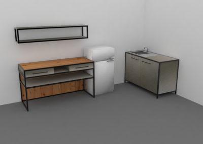 Paletky | recyklovaný nábytek z palet | Mobilní Kuchyň Web 1200 4 | nábytek na míru
