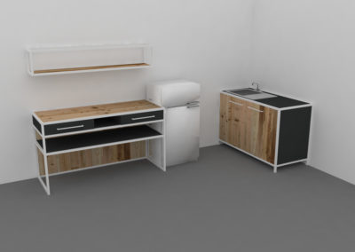 Paletky | recyklovaný nábytek z palet | Mobilní Kuchyň Web 1200 7 | nábytek na míru