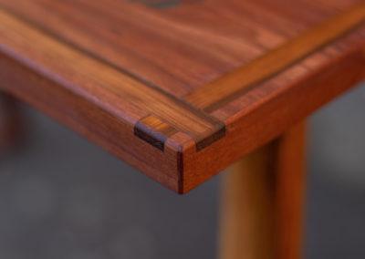 Paletky | recyklovaný nábytek z palet | Stůl Epox Modrý Web 1200 3 | nábytek na míru
