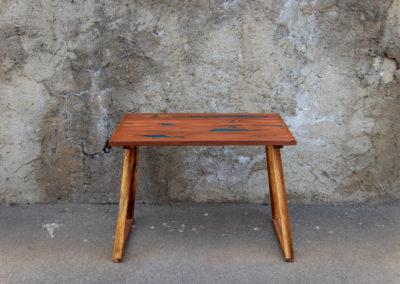 Paletky | recyklovaný nábytek z palet | Stůl Epox Modrý Web 1200 5 | nábytek na míru