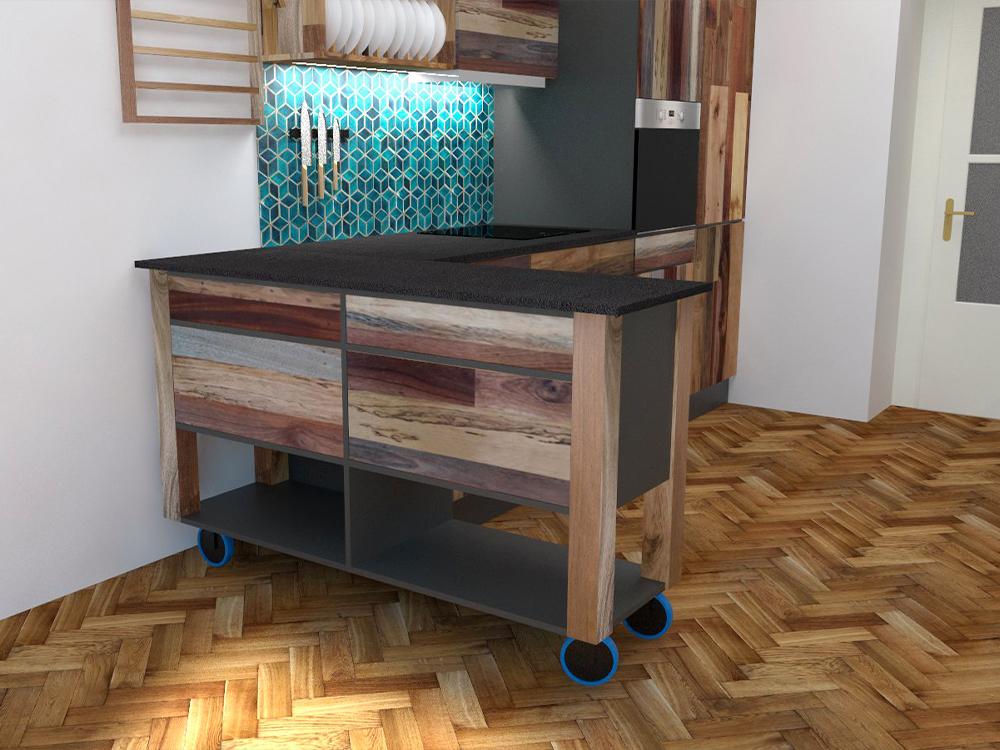 Paletky | recyklovaný nábytek z palet | Web Vizualizace Azulej 2 | nábytek na míru