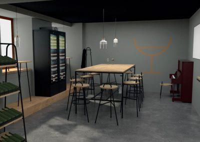 Paletky | recyklovaný nábytek z palet | Glass Of Wine Vizu 2 | nábytek na míru