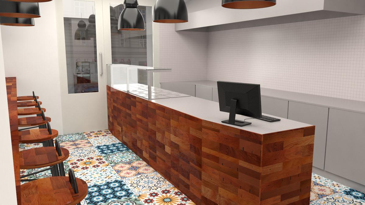 Paletky | recyklovaný nábytek z palet | Indická Restaurace Vizualizace 1 | nábytek na míru