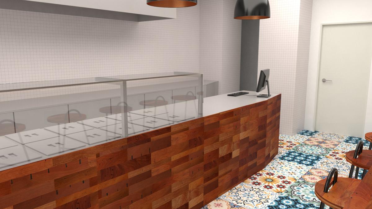 Paletky | recyklovaný nábytek z palet | Indická Restaurace Vizualizace 3 | nábytek na míru