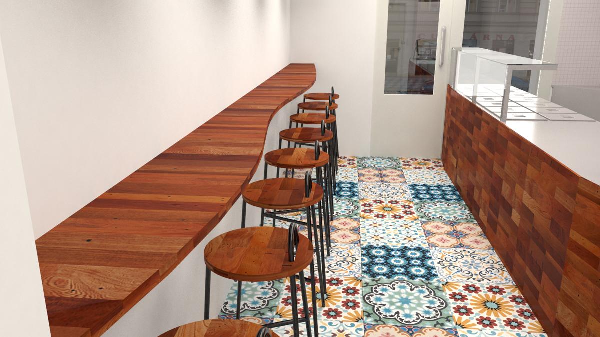Paletky | recyklovaný nábytek z palet | Indická Restaurace Vizualizace 4 | nábytek na míru