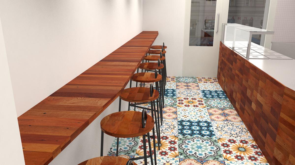 Paletky | recyklovaný nábytek z palet | Indická Restaurace Vizualizace 5 | nábytek na míru