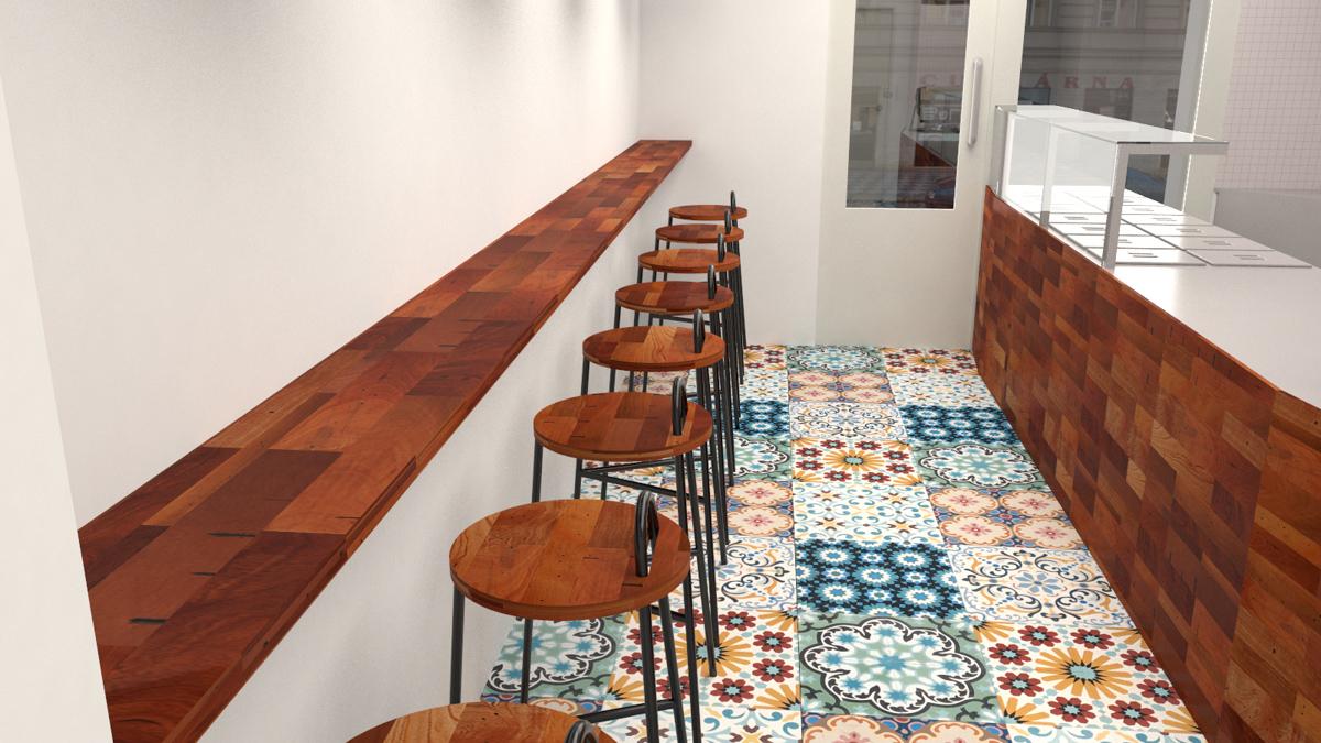 Paletky | recyklovaný nábytek z palet | Indická Restaurace Vizualizace 6 | nábytek na míru