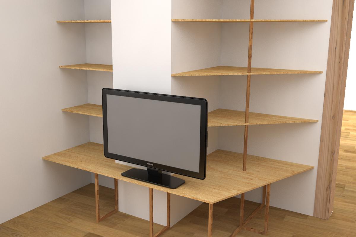 Paletky | recyklovaný nábytek z palet | Interiér 2017 Vizualizace 1 | nábytek na míru