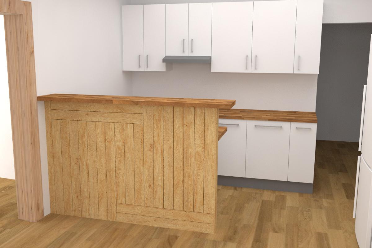 Paletky | recyklovaný nábytek z palet | Interiér 2017 Vizualizace 2 | nábytek na míru