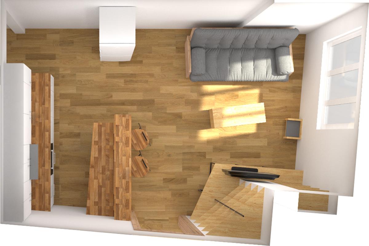 Paletky | recyklovaný nábytek z palet | Interiér 2017 Vizualizace 6 | nábytek na míru