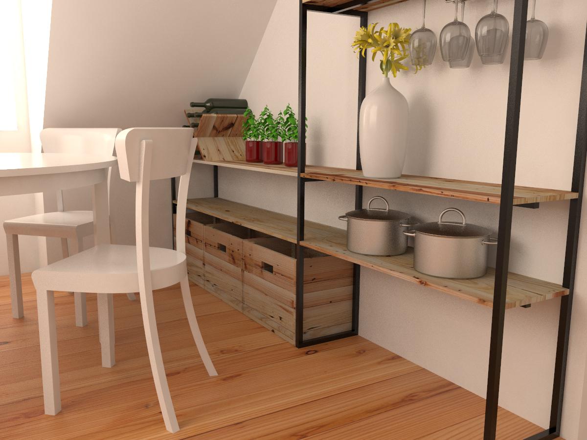 Paletky | recyklovaný nábytek z palet | Interiér Z Palet Vizualizace 2 | nábytek na míru