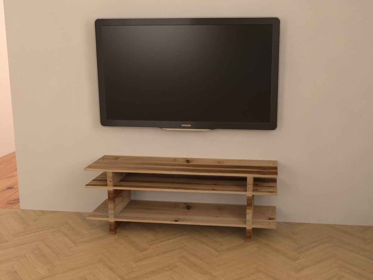 Paletky | recyklovaný nábytek z palet | Interiér Z Palet Vizualizace 5 | nábytek na míru