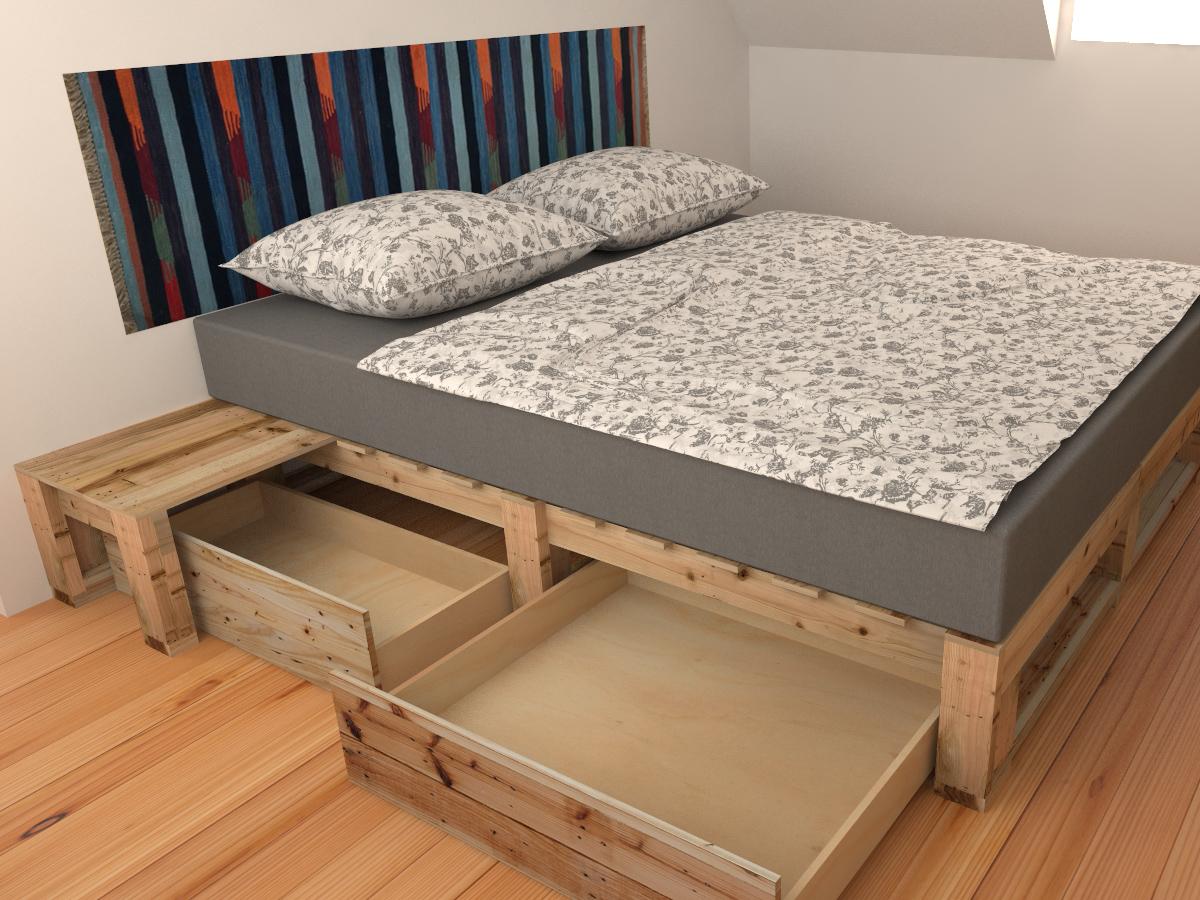 Paletky | recyklovaný nábytek z palet | Interiér Z Palet Vizualizace 6 | nábytek na míru