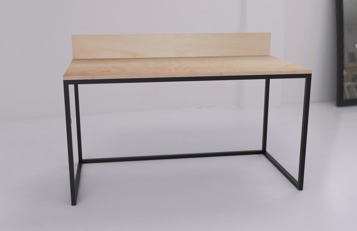 Paletky | recyklovaný nábytek z palet | Kancelářský Stůl Překližka Vizualizace 2 | nábytek na míru