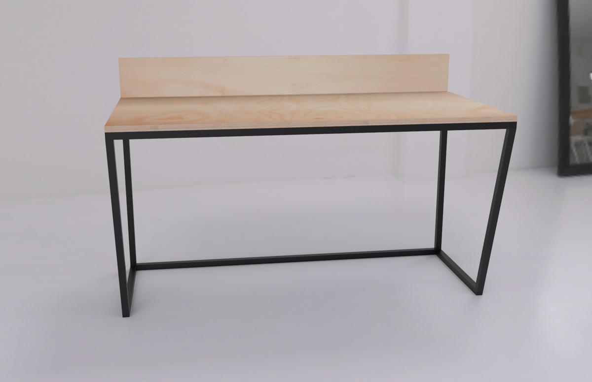 Paletky | recyklovaný nábytek z palet | Kancelářský Stůl Překližka Vizualizace 3 | nábytek na míru
