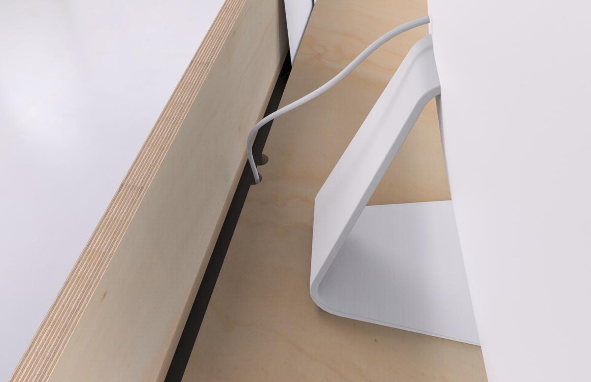 Paletky | recyklovaný nábytek z palet | Kancelářský Stůl Překližka Vizualizace 5 | nábytek na míru
