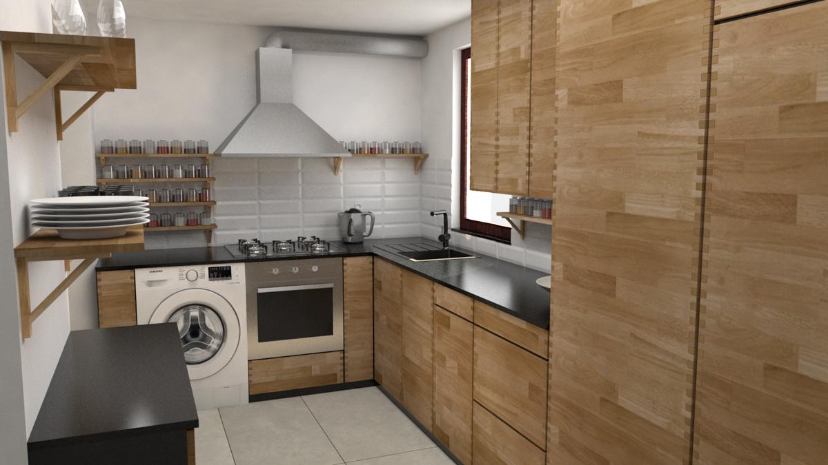 Paletky | recyklovaný nábytek z palet | Kuchyně Ribinový Spoj Vizualizace 1 | nábytek na míru