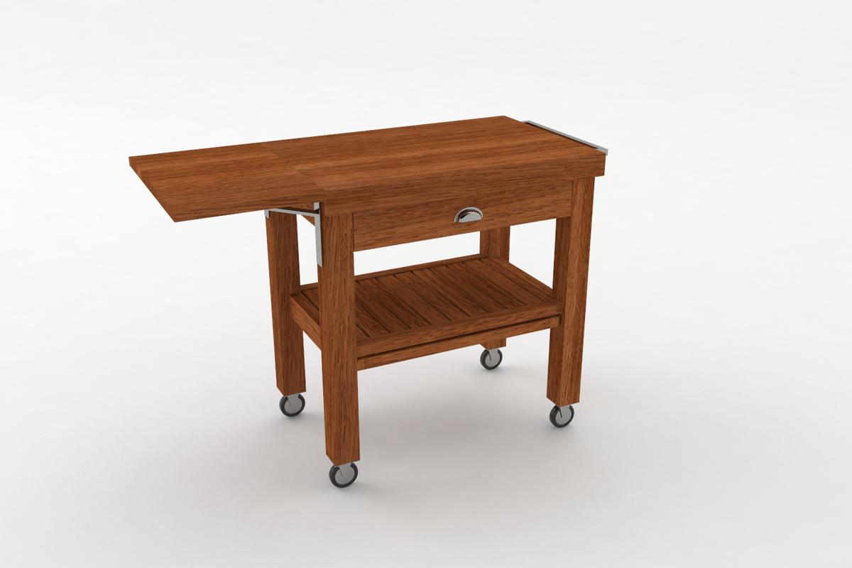 Paletky | recyklovaný nábytek z palet | Salabka Vozík Vizualizace 2 | nábytek na míru