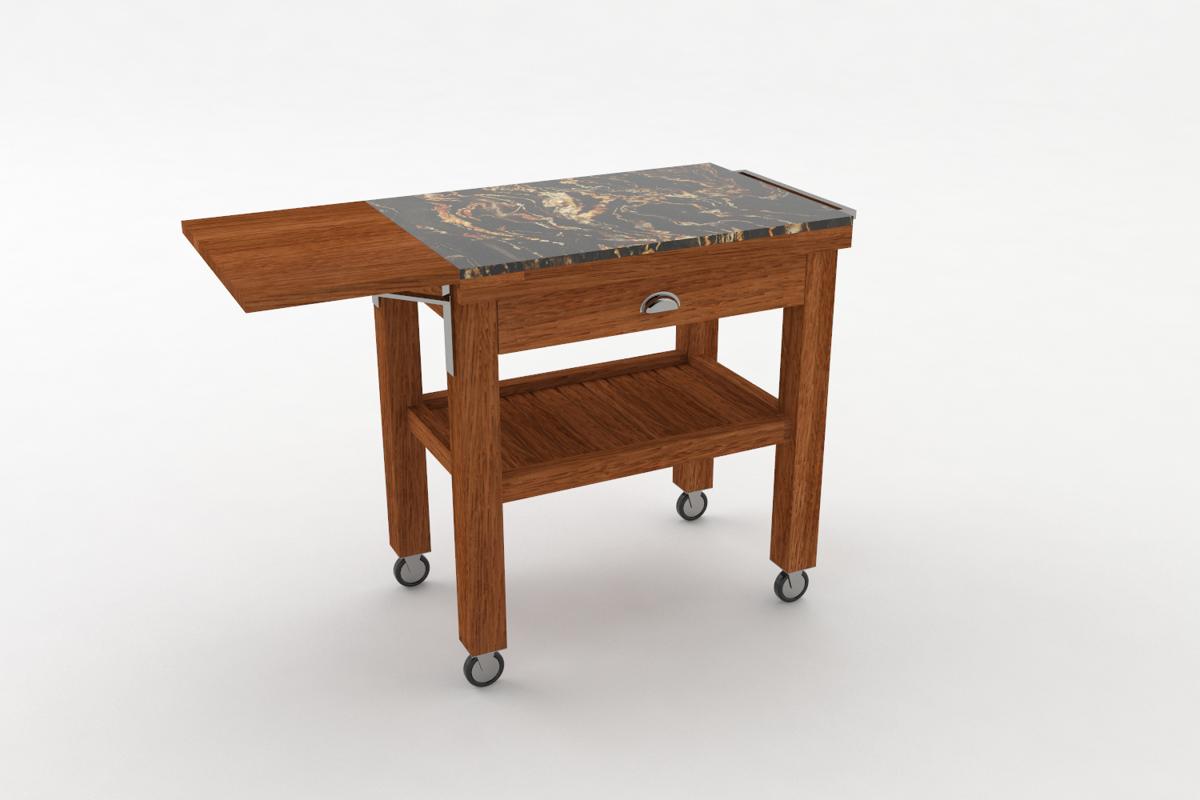 Paletky | recyklovaný nábytek z palet | Salabka Vozík Vizualizace 3 | nábytek na míru