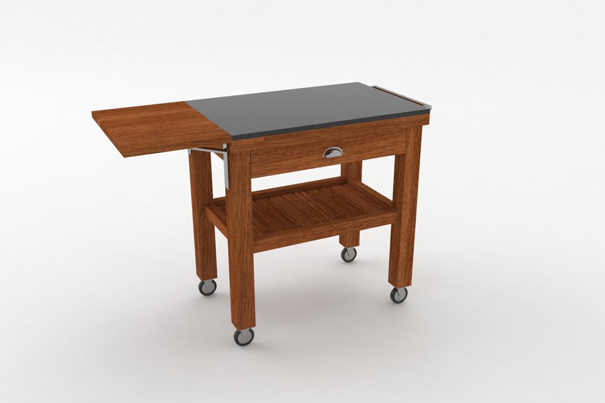 Paletky | recyklovaný nábytek z palet | Salabka Vozík Vizualizace 4 | nábytek na míru