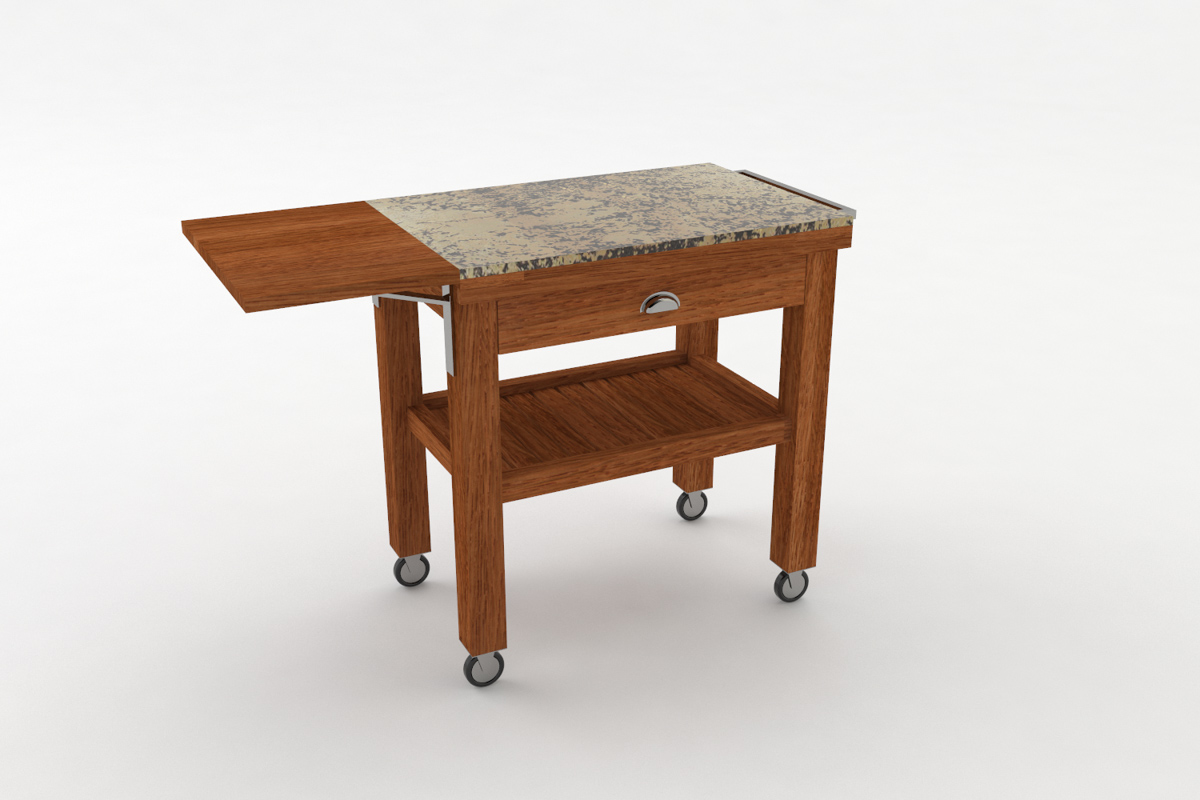 Paletky | recyklovaný nábytek z palet | Salabka Vozík Vizualizace 5 | nábytek na míru