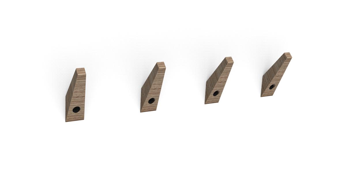 Paletky | recyklovaný nábytek z palet | Věšáčky Vizualizace 2 | nábytek na míru