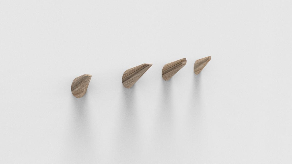 Paletky | recyklovaný nábytek z palet | Věšáčky Vizualizace 6 | nábytek na míru
