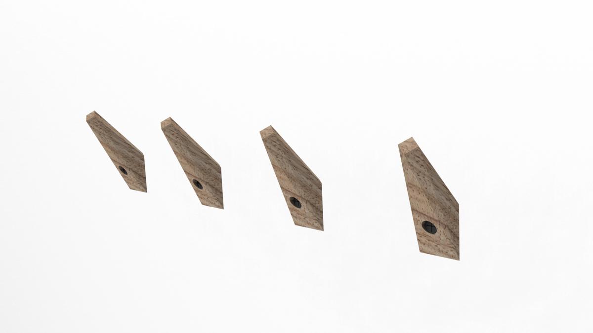 Paletky | recyklovaný nábytek z palet | Věšáčky Vizualizace 9 | nábytek na míru